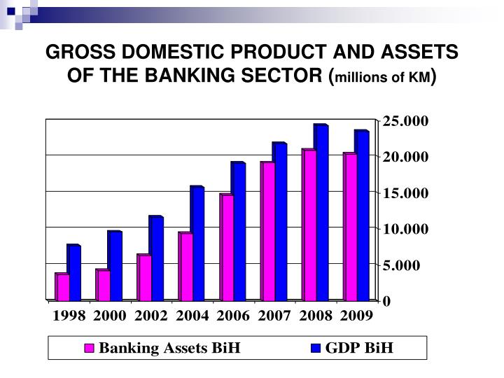 GROSS DOMESTIC PRODUCT AND ASSETS OF THE BANKING SECTOR (