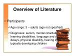 overview of literature1