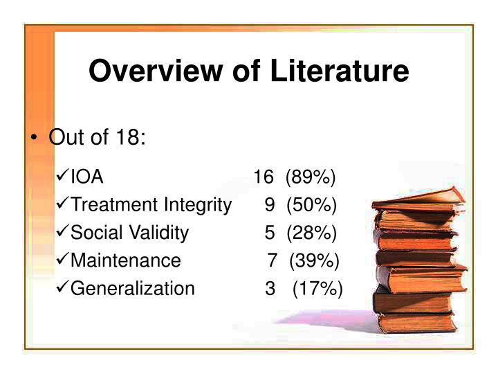 Overview of Literature