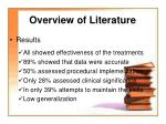 overview of literature7