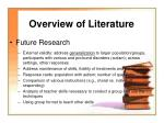 overview of literature9