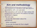 aim and methodology