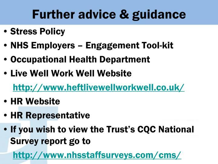 Further advice & guidance