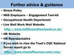 further advice guidance