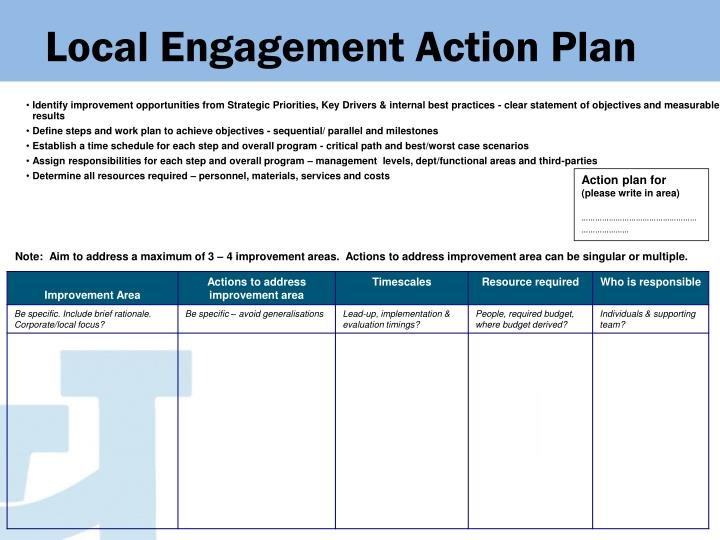 Local Engagement Action Plan