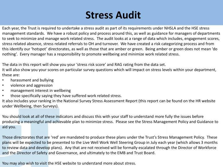 Stress Audit