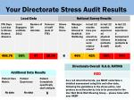 your directorate stress audit results