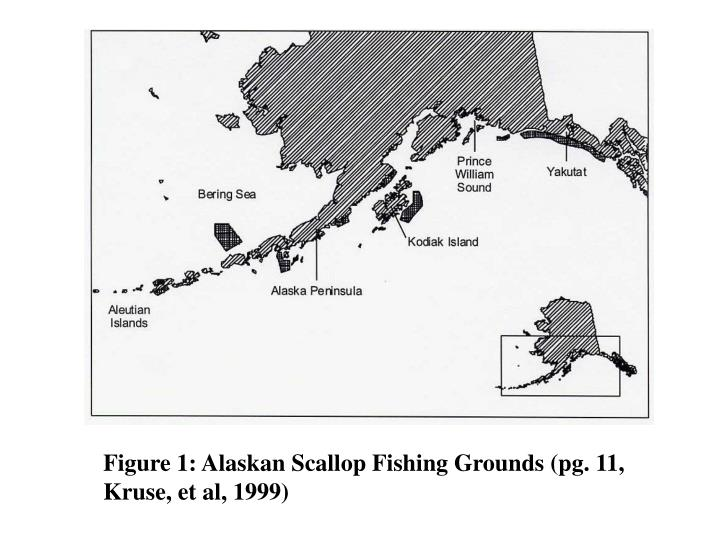 Figure 1: Alaskan Scallop Fishing Grounds (pg. 11, Kruse, et al, 1999)