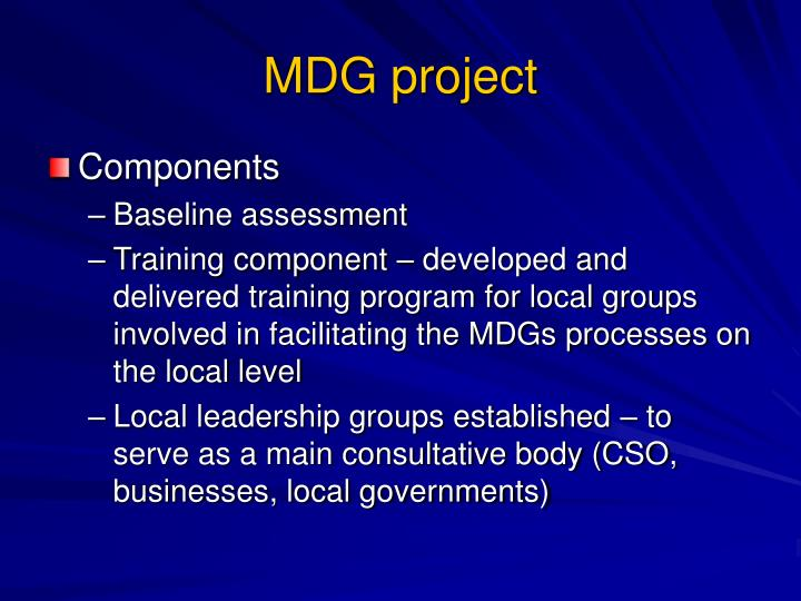 MDG project