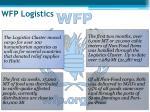 wfp logistics