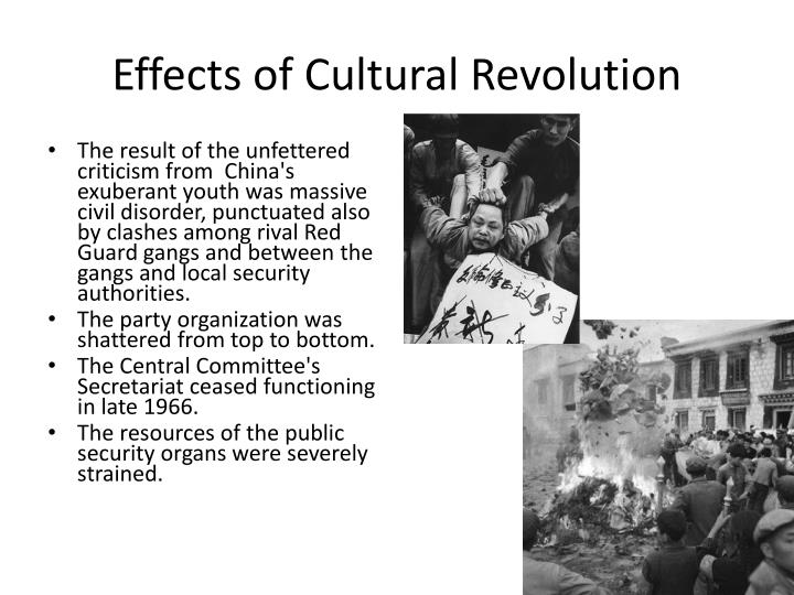 Effects of Cultural Revolution