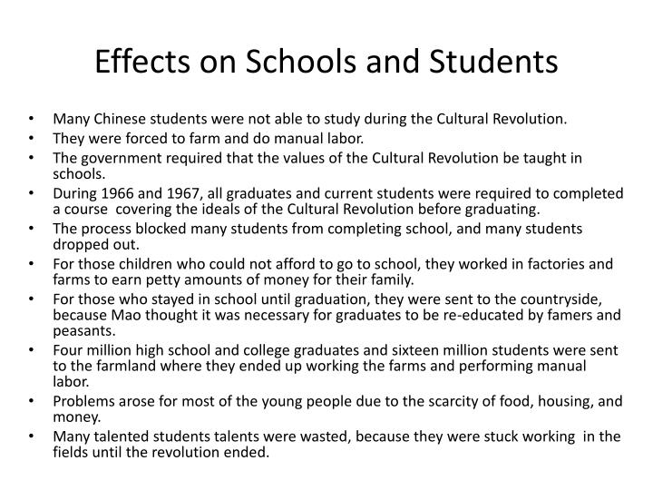 Effects on Schools and Students
