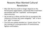 reasons mao wanted cultural revolution