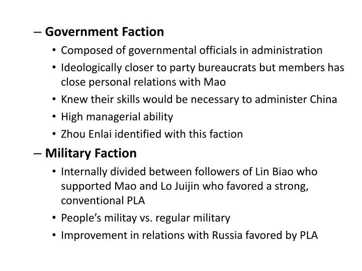 Government Faction