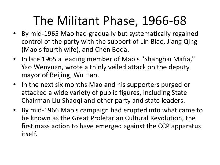 The Militant Phase, 1966-68