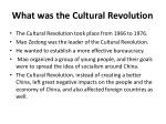 what was the cultural revolution2