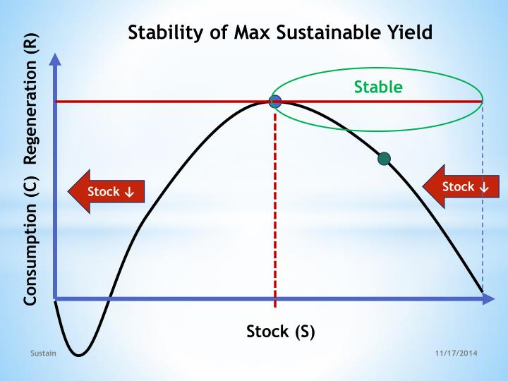 Stability of Max Sustainable Yield