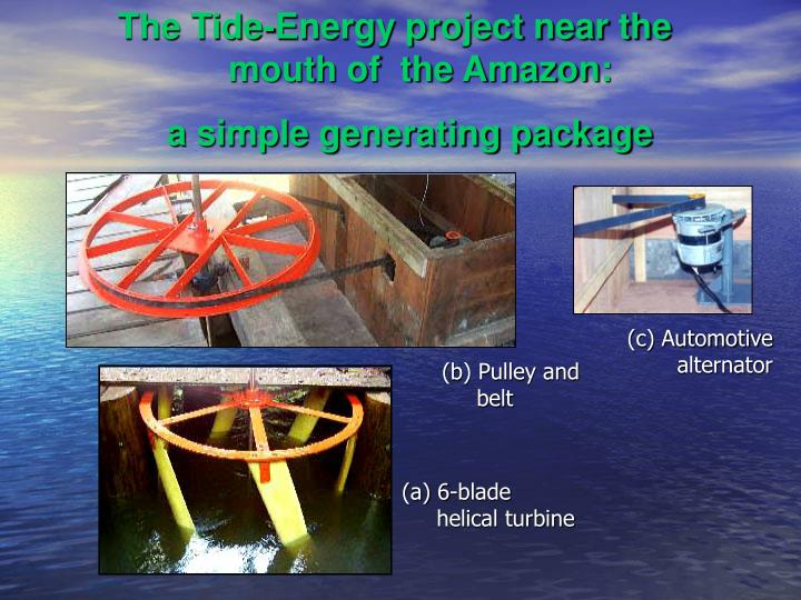 The Tide-Energy project near the