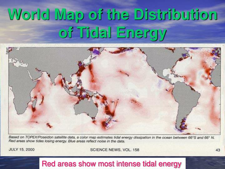World Map of the Distribution of Tidal Energy
