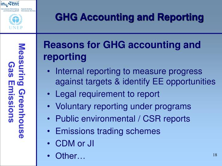 GHG Accounting and Reporting