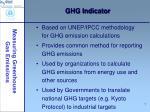 ghg indicator