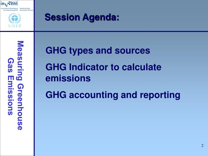 Session Agenda: