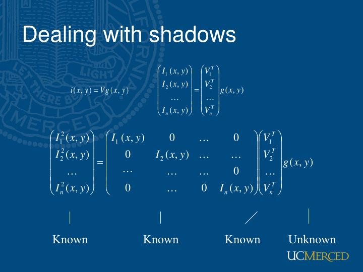 Dealing with shadows