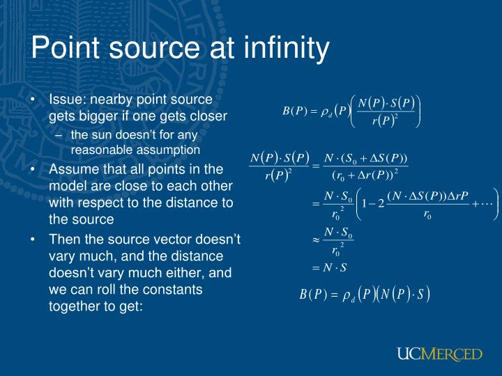 Point source at infinity