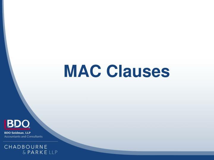 MAC Clauses