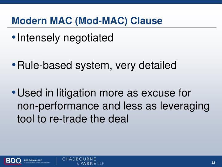 Modern MAC (Mod-MAC) Clause
