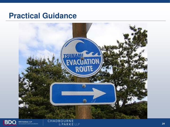 Practical Guidance