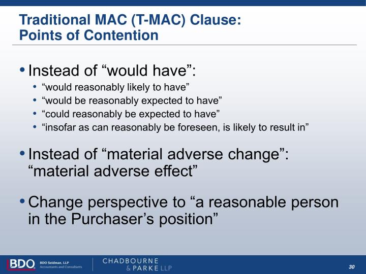 Traditional MAC (T-MAC) Clause: