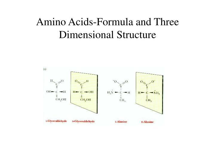 Amino Acids-Formula and Three Dimensional Structure