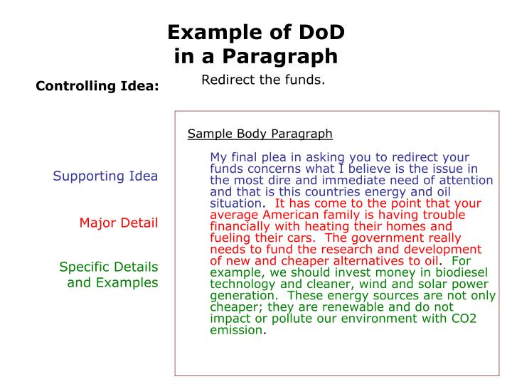 Example of DoD
