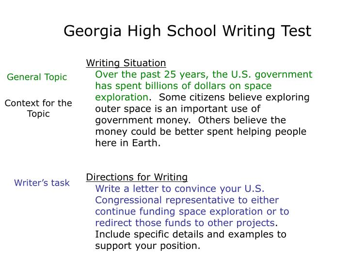 Georgia High School Writing Test