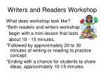writers and readers workshop