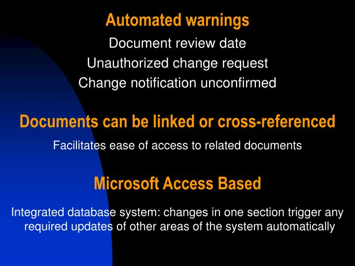 Automated warnings