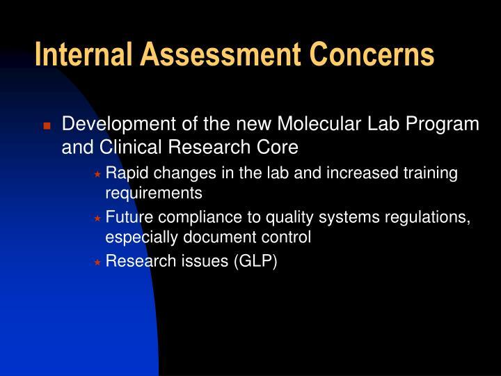 Internal Assessment Concerns