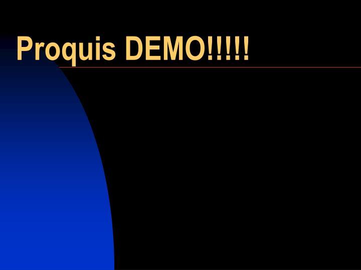 Proquis DEMO!!!!!