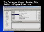 the document viewer section title author or keyword searches