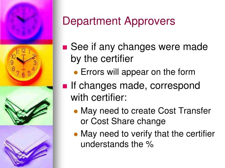 Department Approvers