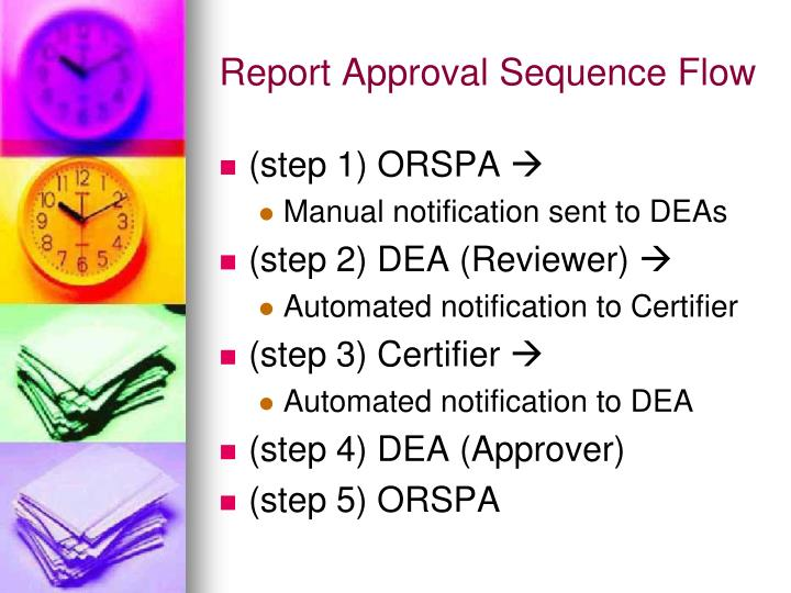 Report Approval Sequence Flow