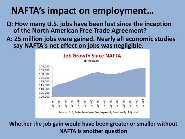 NAFTA's impact on employment…
