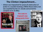 the clinton impeachment
