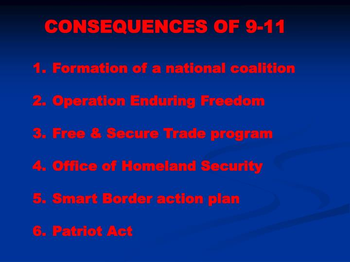 CONSEQUENCES OF 9-11