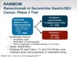 rainbow ramucirumab in second line gastric gej cancer phase 3 trial