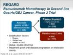 regard ramucirumab monotherapy in second line gastric gej cancer phase 3 trial
