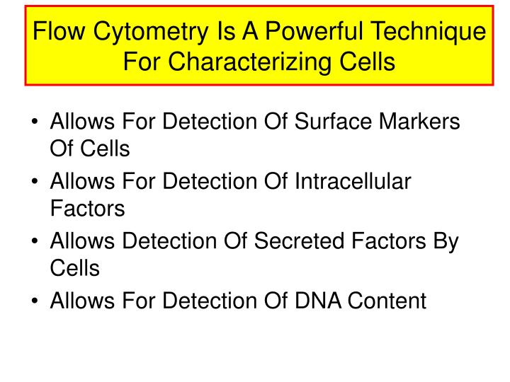 Flow Cytometry Is A Powerful Technique For Characterizing Cells