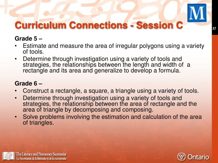 Curriculum Connections - Session C