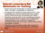 deborah loewenberg ball mathematics for teaching